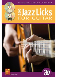 Jason Ross: 200 Jazz Licks For Guitar In 3D (Book/CD/DVD) Books, CDs and DVDs / Videos   Guitar
