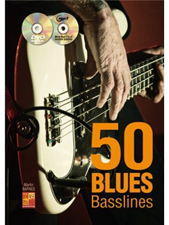 50 Blues Basslines (Book/CD/DVD) Books, CDs and DVDs / Videos | Bass Guitar