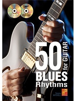 Tommy Mitchell: 50 Blues Rhythms For Guitar (Book/CD/DVD) Books, CDs and DVDs / Videos | Guitar