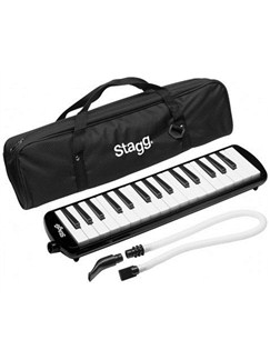 Stagg: Plastic Melodica With Bag - 32 Key (Black) Instruments | Melodica