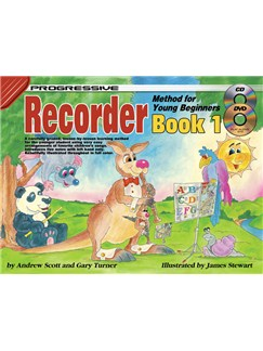 Progressive Recorder Method For Young Beginners: Book 1 Books and Digital Audio | Soprano (Descant) Recorder or Tenor Recorder