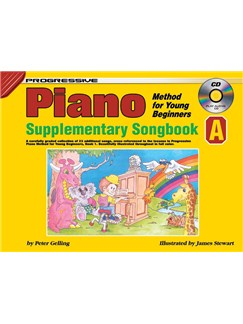 Progressive Piano Method For Young Beginners: Supplementary Songbook A Books and CDs | Piano