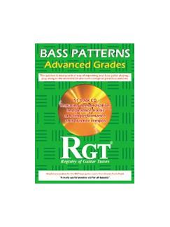 Registry Of Guitar Tutors: Bass Patterns - Advanced Grades (CD) CDs | Bass Guitar