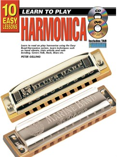 10 Easy Lessons: Learn To Play Harmonica Books, CDs and DVDs / Videos | Harmonica