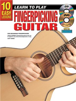 10 Easy Lessons: Learn To Play Fingerpicking Guitar (Book/CD/DVD) Books, CDs and DVDs / Videos | Guitar