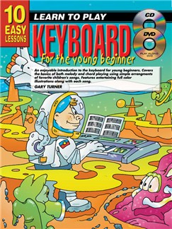 10 Easy Lessons: Learn To Play Keyboard For Young Beginners Books, CDs and DVDs / Videos | Keyboard