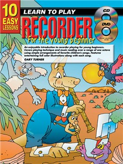 10 Easy Lessons: Learn To Play Recorder For Young Beginners Books, CDs and DVDs / Videos | Recorder
