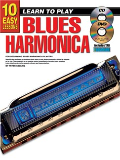 10 Easy Lessons: Learn To Play Blues Harmonica Books, CDs and DVDs / Videos | Harmonica