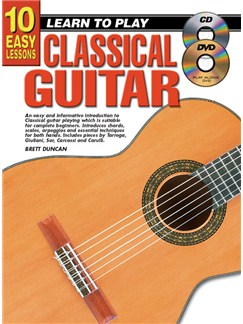 10 Easy Lessons: Learn To Play Classical Guitar Books, CDs and DVDs / Videos | Guitar, Classical Guitar