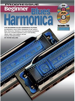 Progressive Beginner Blues Harmonica Books, CDs and DVDs / Videos | Harmonica