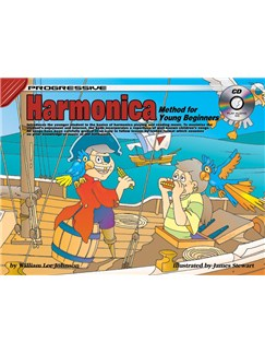 Progressive Harmonica Method For Young Beginners Books and CDs | Harmonica