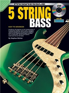 Progressive 5 String Bass Books and CDs | Bass Guitar
