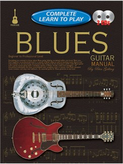 Progressive Complete Learn To Play Blues Guitar Manual Books and CDs | Guitar
