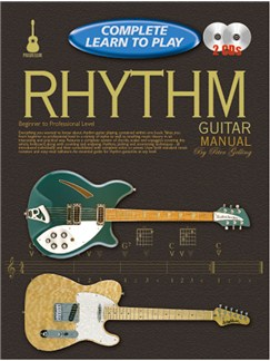 Progressive Complete Learn To Play Rhythm Guitar Manual Books and CDs | Guitar