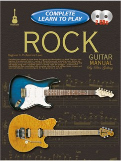Progressive Complete Learn To Play Rock Guitar Manual Books and CDs | Guitar