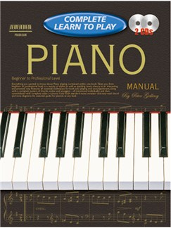 Progressive Complete Learn To Play Piano Manual Books and CDs | Piano