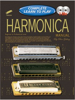 Progressive Complete Learn To Play Harmonica Manual Books and CDs | Harmonica