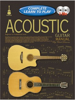 Progressive Complete Learn To Play Acoustic Guitar Manual Books and CDs | Guitar, Acoustic Guitar