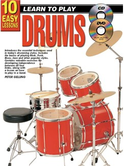10 Easy Lessons: Teach Yourself Drums DVDs / Videos | Drums