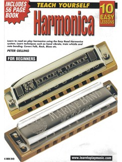 10 Easy Lessons: Teach Yourself Harmonica (DVD With Small Booklet) Books and DVDs / Videos | Harmonica