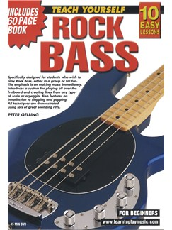 10 Easy Lessons: Teach Yourself Rock Bass (DVD With Small Booklet) Books and DVDs / Videos | Bass Guitar
