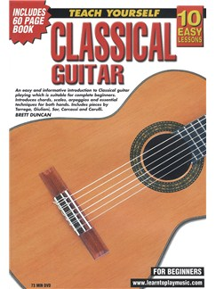 10 Easy Lessons: Teach Yourself Classical Guitar (DVD With Small Booklet) Books and DVDs / Videos | Classical Guitar