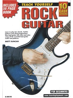 10 Easy Lessons: Teach Yourself Rock Guitar (DVD With Small Booklet) Books and DVDs / Videos | Guitar