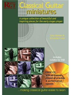 Classical Guitar Miniatures Books and CDs | Guitar Tab, Classical Guitar