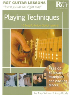 Registry Of Guitar Tutors Guitar Lessons: Playing Techniques (Book/CD) Books and CDs | Guitar