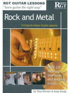 Registry Of Guitar Tutors Guitar Lessons: Rock And Metal (Book/CD) Books and CDs | Guitar