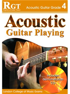 Registry of Guitar Tutors: Acoustic Guitar Playing - Grade 4 (Book and CD) Books and CDs | Guitar, Acoustic Guitar