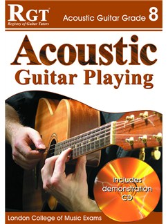 Registry of Guitar Tutors: Acoustic Guitar Playing - Grade 8 (Book and CD) Books and CDs | Guitar, Acoustic Guitar