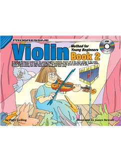 Progressive Violin Method For Young Beginners: Book 2 Books and CDs | Violin