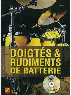 Doigtés & Rudiments De Batterie (Book/CD) Books and CDs | Drums