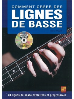 Bruno Tauzin: Comment Créer Des Lignes De Basse (Book/DVD) Books and DVDs / Videos | Bass Guitar