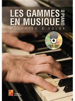 Frederic Dautigny: Les Gammes En Musique Au Piano (Livre/DVD) DVDs / Videos et Livre | Piano