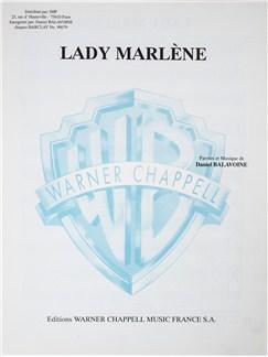 Daniel Balavoine: Lady Marlene Livre | Voix, Accompagnement Piano