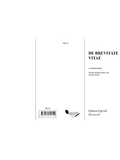 De Brevitate Vitae: 14 studentersange Books | Piano & Vocal