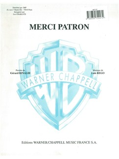 Les Charlots: Merci Patron Books | Voice, Piano Accompaniment