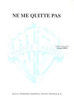 Jacques Brel: Ne Me Quitte Pas Books | Piano & Vocal