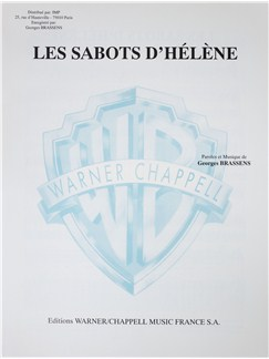 Georges Brassens: Les Sabots D'Helene Books | Voice, Piano Accompaniment