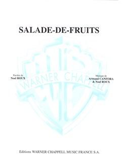 Bourvil: Salade-De-Fruits Livre | Piano & Vocal