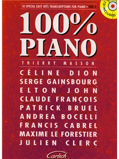 100% Piano, Volume 1 CD et Livre | Piano