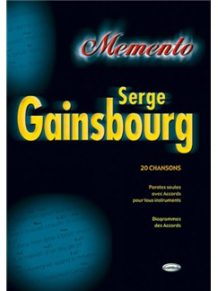 Serge Gainsbourg: Memento Books | Lyrics & Chords