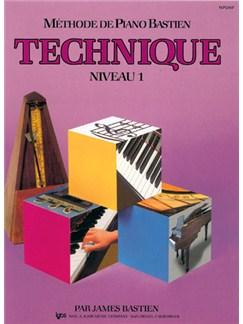 Méthode de Piano Bastien : Technique, Niveau 1 Books | Piano