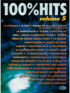 100% Hits - Volume 5 Livre | Piano, Chant et Guitare