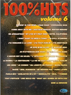 100% Hits, Volume 6 Livre | Piano, Vocal & Guitar