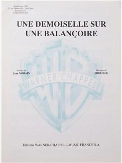 Yves Montand: Une Demoiselle Sur Une Balancoire Livre | Voix, Accompagnement Piano