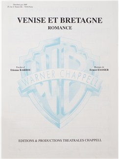 Tino Rossi: Venise Et Bretagne Books | Voice, Piano Accompaniment