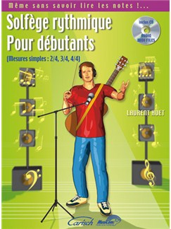 Solfège Rythmique pour Débutants (Mesures Simples: 2/4, 3/4, 4/4) Books and CDs | All Instruments